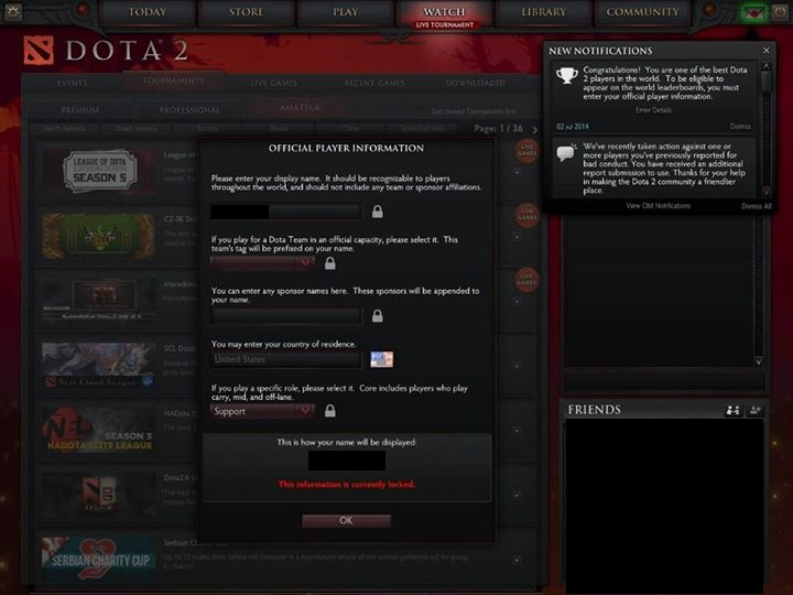 how to get official player information